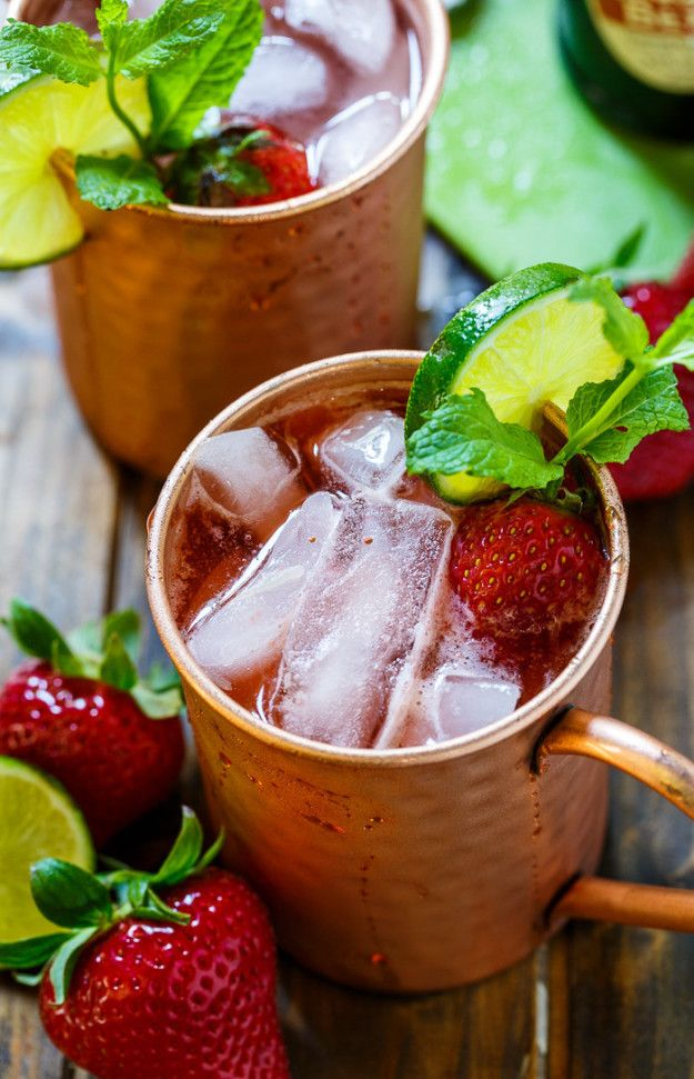 Strawberry Moscow Mule   24 Insanely Unique Moscow Mules To Help You Beat The…