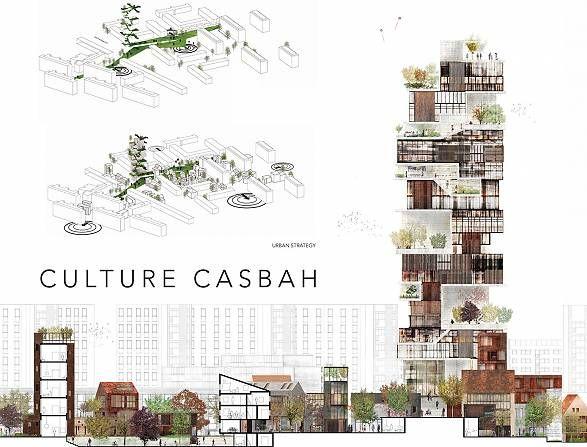 Culture casbah, situationsplan.