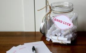 Good Luck Notes Jar