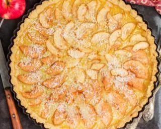 Tarte feuilletée aux pommes et à la noix de coco
