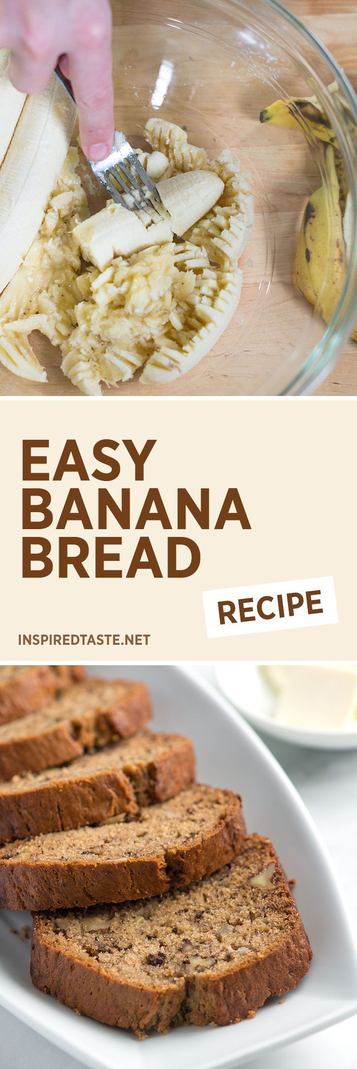 Easy Banana Bread recipe - This is so good, you'll want to make 2 loaves!