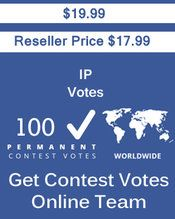 Buy 100 IP/Single Click Votes at $17.99 Votes from different USA IP Address Bulk Votes Available. Different Country IP address available. www.getcontestvotesonline.com #buyonlinevotes #buycontestvotes #buyfacebookvotes #getonlinevotes #getcontestvotes #buyvotesforonlinecontest #buyipvotes #getbulkvotes
