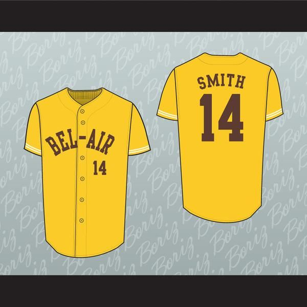 Best Fresh Prince Will Smith Bel Air Academy Baseball Jersey Stitch Sewn
