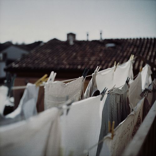 I loved to run through the clean towels and sheets hanging on the clothesline when i was a kid.
