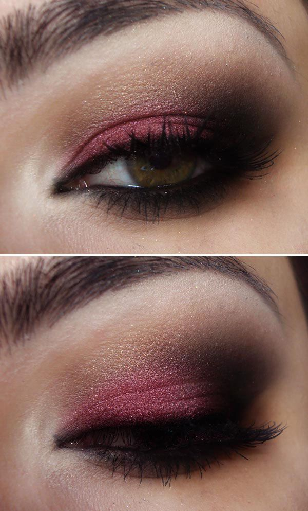 Magenta & Deep Brown Smokey Eye (check out her site for step-by-step tutorials. Even though it's in Spanish, it's still easy to see what she's doing!)