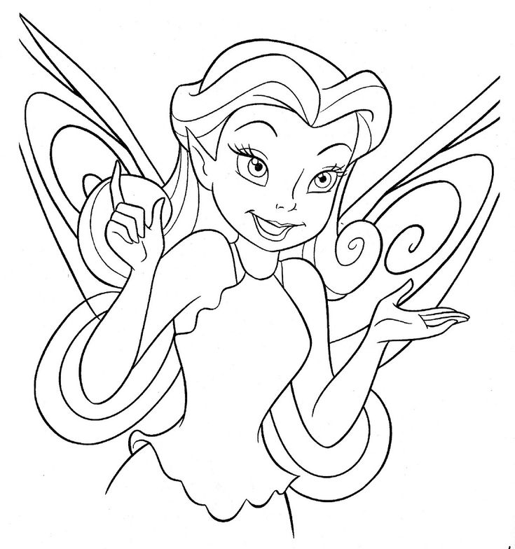 Disney Fairy Face Coloring Page Free Pages For The Girls To Color