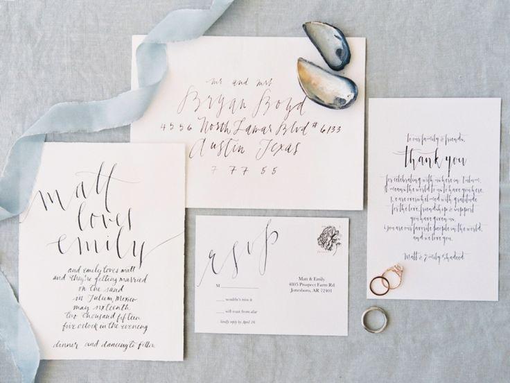 418 best wedding invitations images on pinterest wedding romantic barefoot beachfront tulum wedding stopboris Image collections