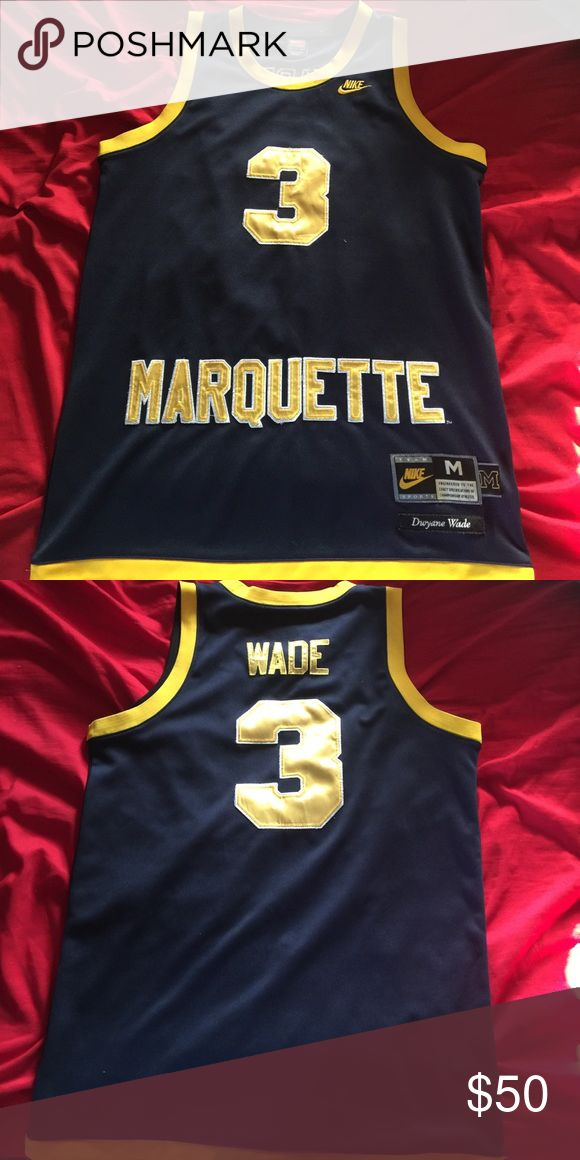 Dwyane Wade Marquette Jersey Dwyane Wade College Jersey. Size: Adult Medium. Nike Greats and Glory 1977 Marquette Jersey. Nike Other