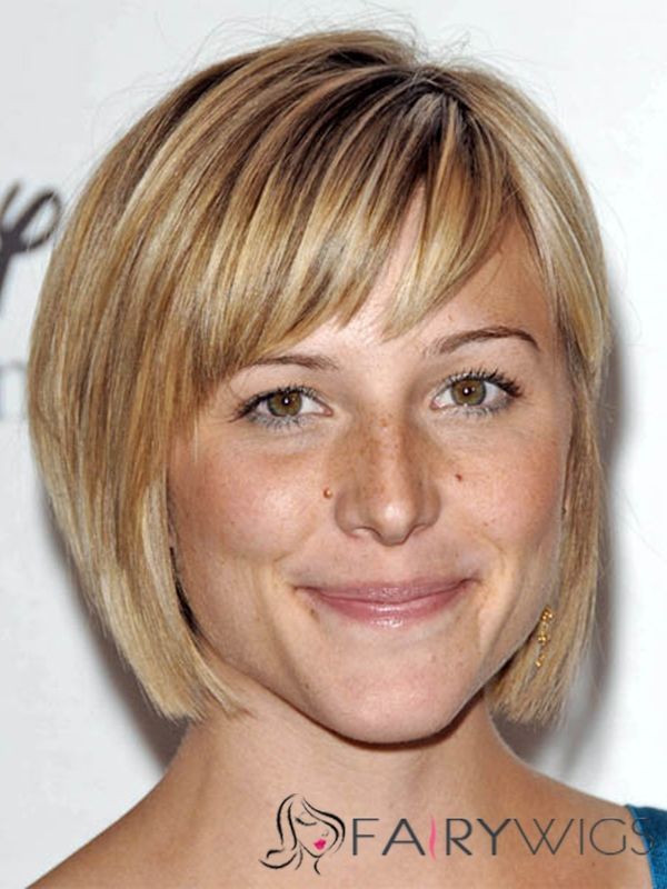 chin length bob bangs haircut