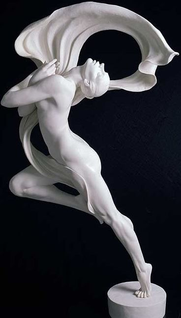 By Gaylord Ho. Such beautiful lines. You don't see evidence of The Golden Triangle as often in sculpture.