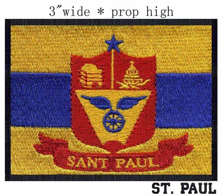 Св . павел, Миннесота флаг сша вышивка 3  широкий доставка / святая город / красный riband / швейные нитки