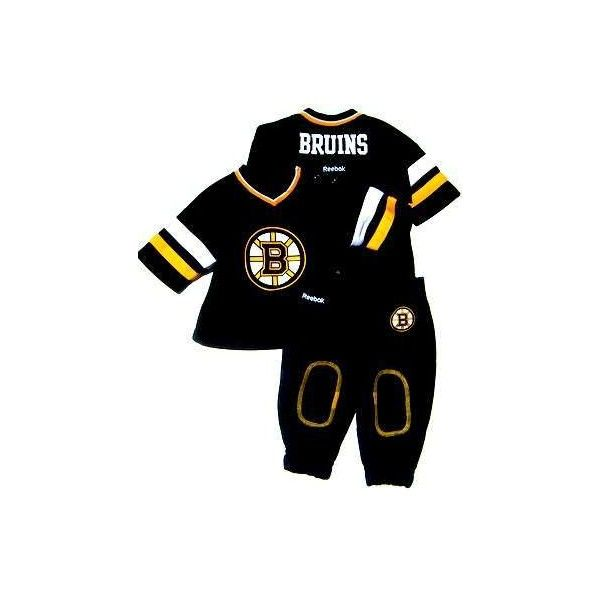3b531d211cb NHL Boston Bruins Fan Jersey Romper NEWBORN Baby Infant Clothes Boston  Bruins 2-Piece Hockey Jersey Shirt Sweat Pants Clothing Apparel