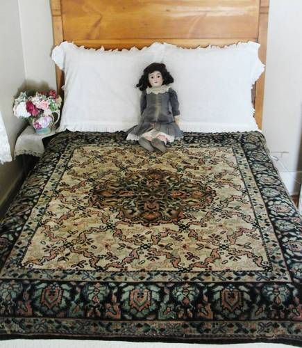 Gorgeous! Antique Victorian Thick Wool Mohair Blanket Sleigh Throw