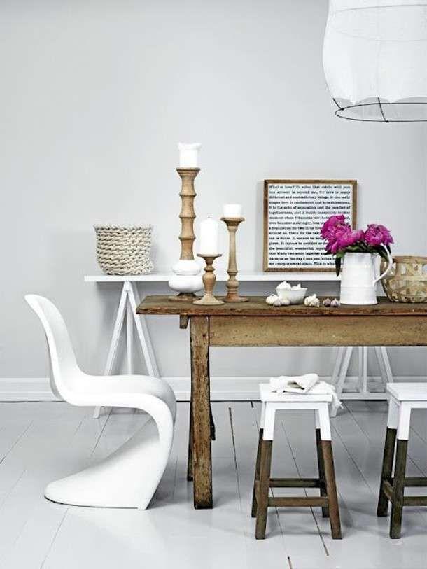 Sedie Vitra - Sedie diverse per il tavolo da pranzo
