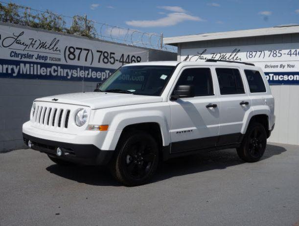 2014 white Jeep Patriot http://www.larrymillerchryslerjeeptucson.com/new/Jeep/2014-Jeep-Patriot-tucson+az-157b4b4c0a0a0065797b305cecc4f05a.htm