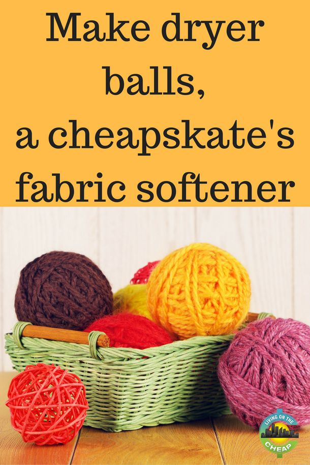 Make dryer balls, a cheapskate's fabric softener - Living On The Cheap