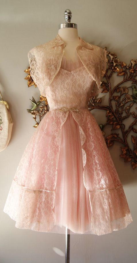 1950s Dress great to for my shabby chic tea party, which of course I will have every day and everyone is welcome to come and share in all the delightful things that I would make for you to eat!