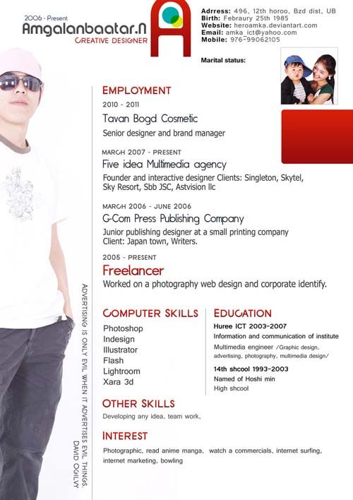 creative resume samples for freshers