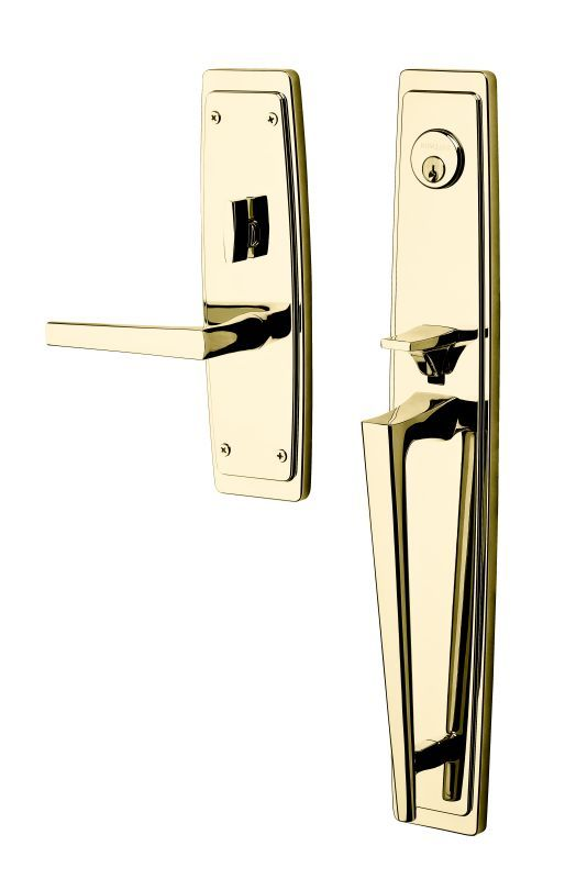Baldwin 6921.RENT Palm Springs Right Handed Single Cylinder Keyed Entry Full Pla Lifetime Satin Nickel Mortise Lock Keyed Entry Single Cylinder