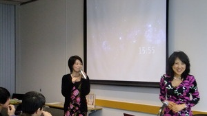 ザ・シークレット、ザ・シークレットtoTEEN、ザ・パワーを山川鉱矢さん、亜希子さんと共訳された佐野美美代子さん(写真右側)