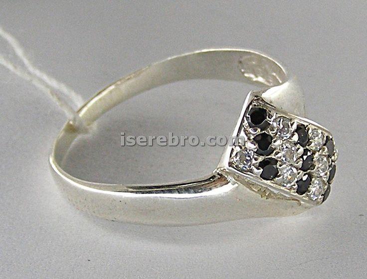 Серебряное кольцо женское со вставкой - 154 грн, размер 17,5