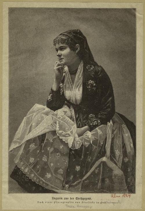 Young Hungarian girl, 1884. (Source.)