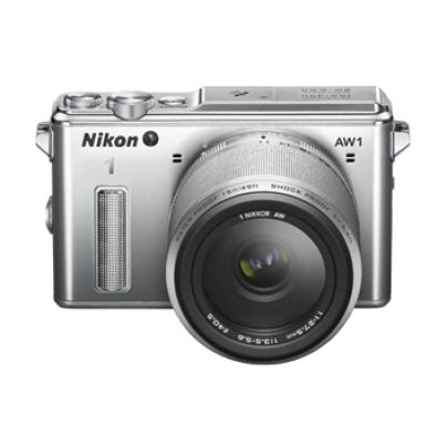 NIKON 1 AW1 silver + AW 11-27.5 Adventure Kit. World's first waterproof interchangeable-lens camera.