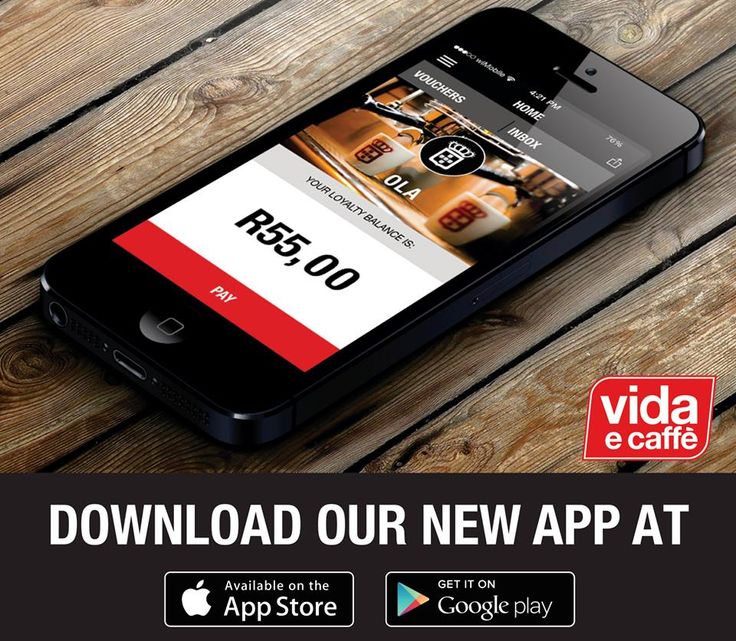 Vida e Caffe has an app - have your order completed with just a finger away