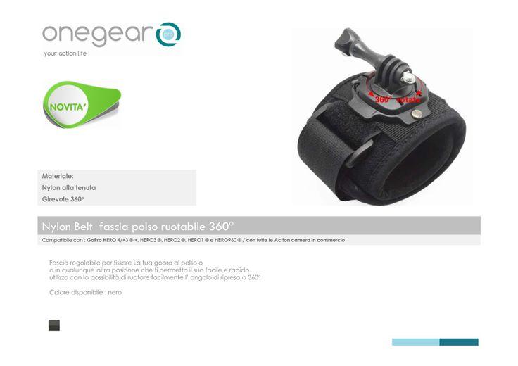 Gopro accessori fascia polso ruotabile 360° con  chiusura rapida in velcro