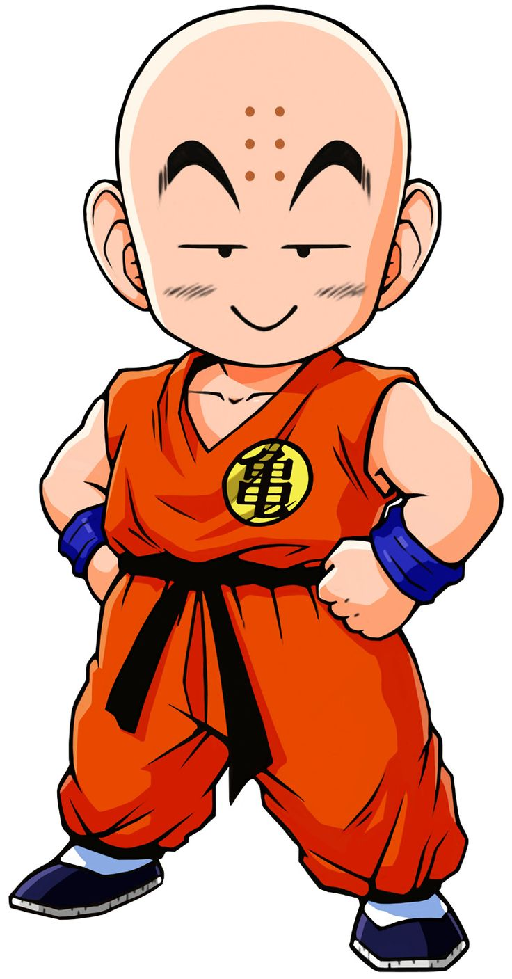 dragon ball krillin when he groes up....hes gonna die several times an episode