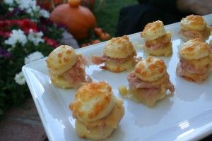 Petite Biscuit Sandwiches with Virginia Ham and Apple Butter