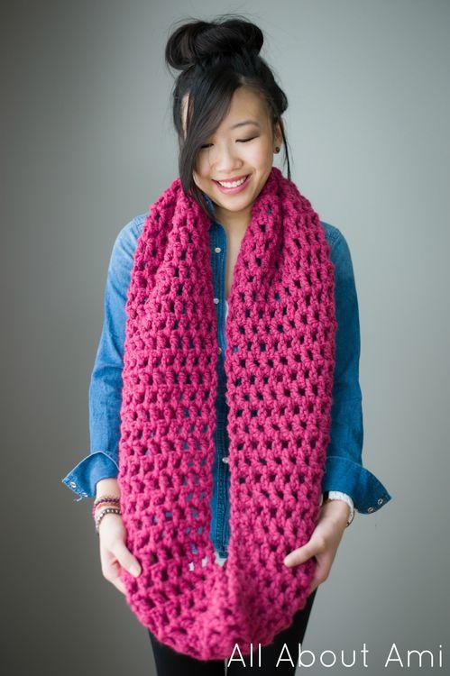 Long double crochet cowl free pattern
