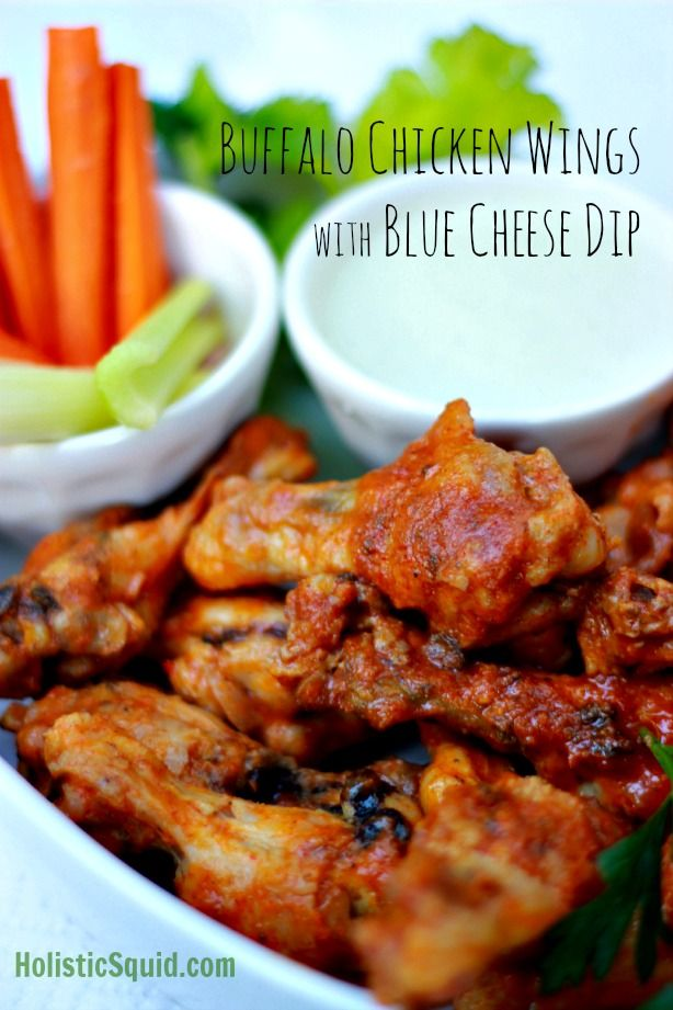Buffalo Wings and Blue Cheese Dip - Holisitic Squid
