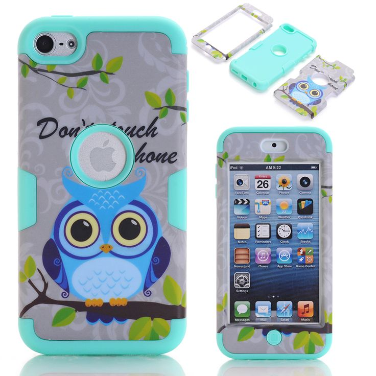 Touch 6 Case Cute Owls Phone Cases for iPod touch 6 Hybrid Hard&Silicone Conque Fundas w/Screen Protector Film+Stylus Pen Gifts