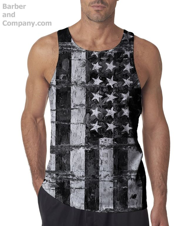Patriotic distressed American flag all over shirt