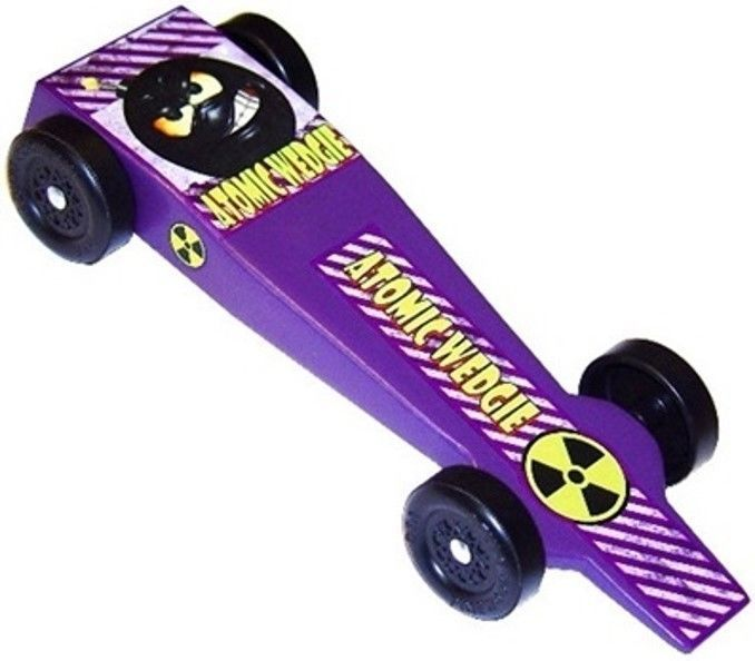Atomic Wedgie Pinewood Derby Car Kit - BSA - Wedge Shape - FAST - Derby Monkey | Toys & Hobbies, Models & Kits, Wooden | eBay!