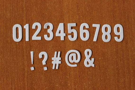 Check out this item in my Etsy shop https://www.etsy.com/listing/270455934/fabulous-set-numbers-and-punctuation
