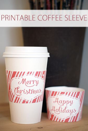 Printable Holiday Coffee Sleeves {101 Days of Christmas at lifeyourway.net}