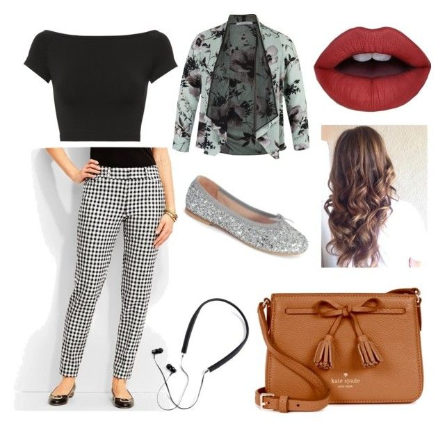gingham print by sweetdollanjali on Polyvore featuring polyvore fashion style Helmut Lang Chesca Talbots Kate Spade Polaroid Bloch clothing