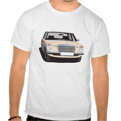 Mercedes-Benz W114/W115 (beige)  #Mercedes-Benz #220 #60s #70s #auto #car #bil #mersu #mercedes #classic #tshirt #tpaita #troja #beige #zazzle