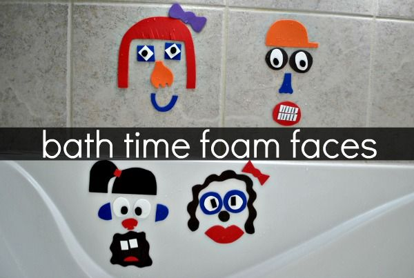 Bath Time Foam Faces- How fun!