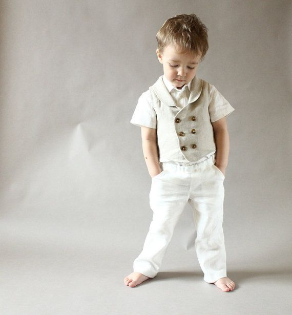 Ring bearer outfit Wedding party outfit Toddler boy by mimiikids