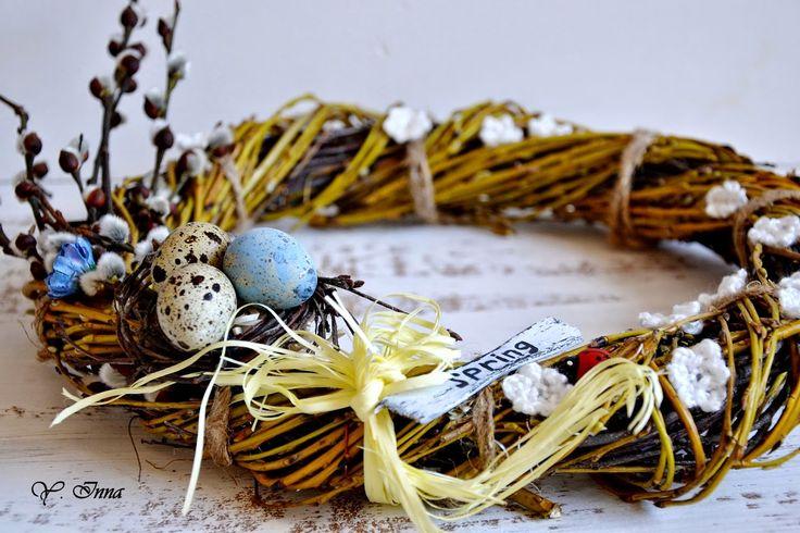Easter wreath DIY (Венок «Весенний» и МК по его созданию)