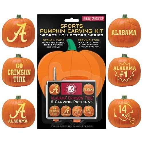 Ncaa alabama crimson tide halloween pumpkin carving kit by