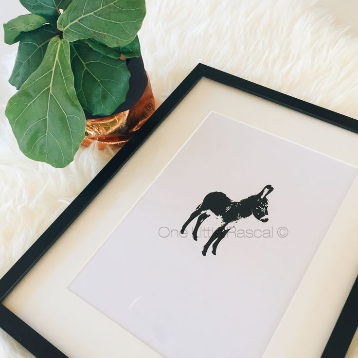 • Donkey • Digital Print  ------------------ Artwork Size 148 x 210mm A5 210 x 297mm A4 297 x 420mm A3 420 x 595mm A2  A5, A4 and A3 prints are printed on high quality 300gsm white matte paper. Anything larger than A3 (A2+) are printed on high quality 160 gsm coated paper. Print comes unframed and packaged with a great deal of care for shipping to your home.  This artwork remains © 2016 One Little Rascal by Bridgette Gale.  PLEASE NOTE: I take great pride i...
