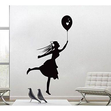 ボール家の装飾壁ステッカー壁デカール付きjiubaiの女の子