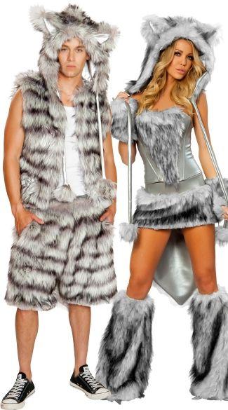 big bad wolf couples costume set - Mens Couple Halloween Costumes