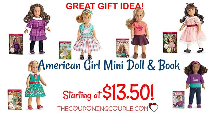 HOT HOT HOT! American Girl Mini Book and Doll starting at $13.50 (reg $21!) AWESOME GIFT IDEA! Little girls LOVE American Girl dolls!   Click the link below to get all of the details ► http://www.thecouponingcouple.com/american-girl-mini-doll/ #Coupons #Couponing #CouponCommunity  Visit us at http://www.thecouponingcouple.com for more great posts!
