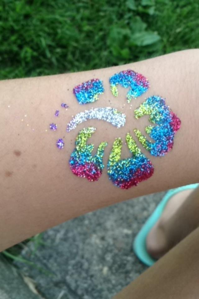 glitter tattoos ideas