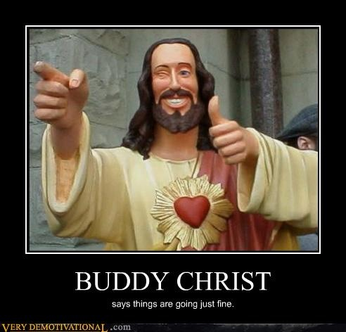 """Buddy Christ from Kevin Smith's """"Dogma"""""""